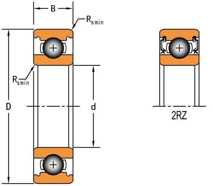 Ball Bearings > Deep Groove Ball Bearings 618/9-2RZ