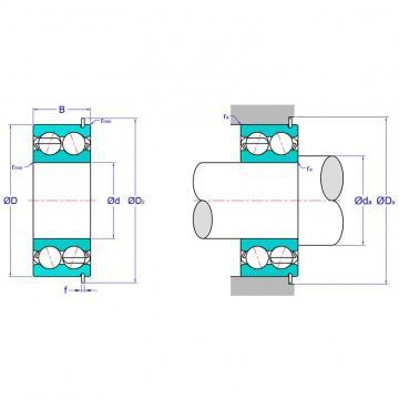 Double Row Angular Contact Ball Bearing 5204ANRC3